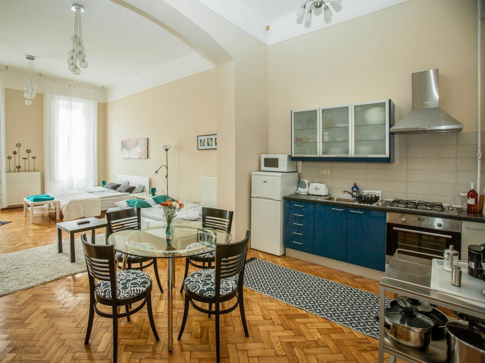 Kitchen Vámház Street 14 Mentha Apartments
